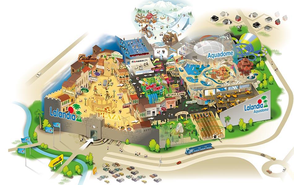 kart over lalandia billund Lalandia Billund Resort   28 Grader i VanÅret Rundt kart over lalandia billund